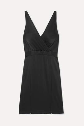 Rachel Zoe Norah Wrap-effect Satin-crepe Dress - Black