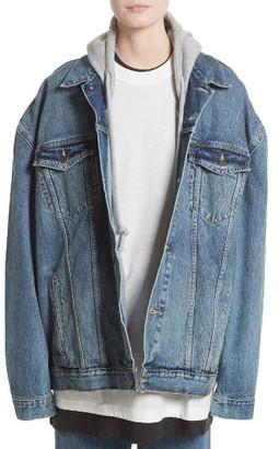 Women's Vetements X Levi's Denim Jacket $1,895 thestylecure.com