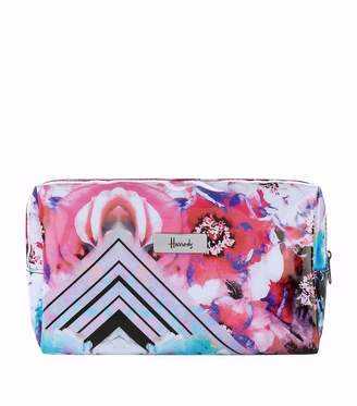 Harrods Geo Floral Cosmetic Bag