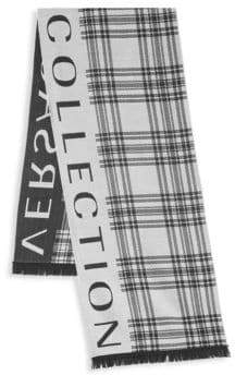 Versace Striped Logo Scarf