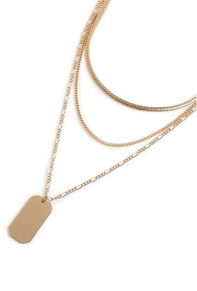 Topman Mens Gold Dog Tag Necklace*