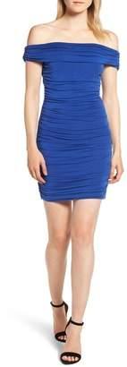 Trouve Trouv? Shirred Off the Shoulder Dress