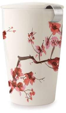Tea Forte Floral Ceramic and Stainless Steel Tumbler