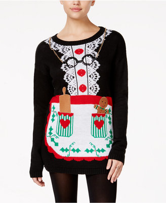 Planet Gold Juniors' Mrs. Claus Tunic Sweater Dress $49 thestylecure.com
