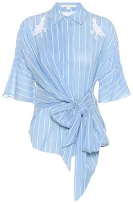 Jonathan Simkhai Striped cotton and silk top