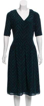 Burberry Printed Midi Dress