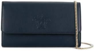 Versace foldover Medusa clutch