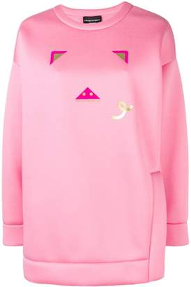 Emporio Armani pig logo print jumper
