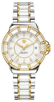 Tag Heuer Ladies' Formula 1 White Ceramic Diamond Watch
