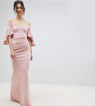 Bardot City Goddess Tall Long Sleeve Maxi Dress