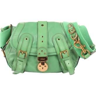 Chloé Green Leather Handbag