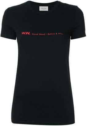 Wood Wood logo print T-shirt