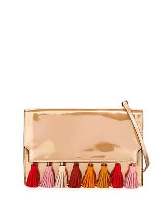Rebecca Minkoff Sofia Tassel Leather Clutch Bag $225 thestylecure.com