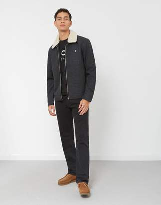 Farah Otley Zip Through Wool Jacket Grey