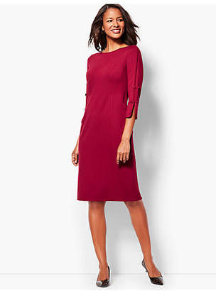 Talbots Bow-Sleeve Refined Ponte Sheath Dress - Solid
