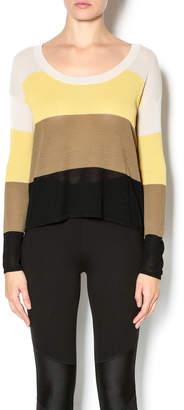 Kensie Striped Lightweight Sweater