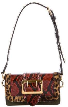 Burberry Snakeskin Buckle Bag