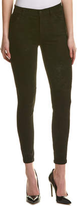 Joe's Jeans The Wasteland Black Lamb Suede High-Rise Skinny Ankle Cut