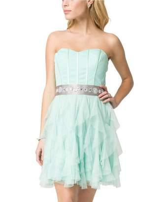 Le Château Women's Sparkle Sweetheart Party Dress,S