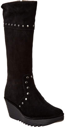 Fly London Yota Leather Wedge Boot