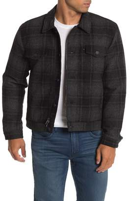 7 For All Mankind Plaid Zip Button Shirt Jacket