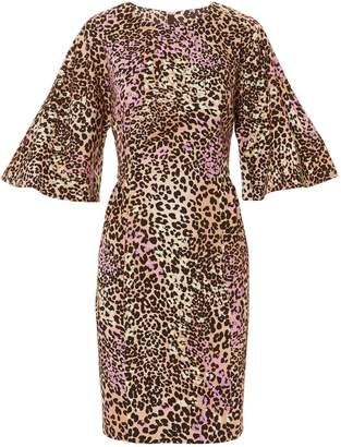 ADAM by Adam Lippes Flutter Sleeve Leopard Dress