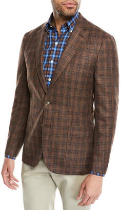 Peter Millar Men's Crown Soft Autumn Plaid Sport Jacket