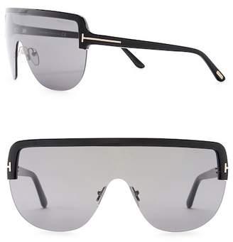 Tom Ford Angus 60mm Flat Top Shield Sunglasses