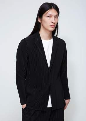 Issey Miyake Homme Plisse Basic Pleated 2-button Jacket