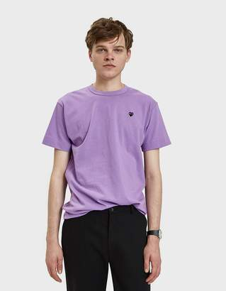 Comme des Garcons Small Black Heart Play T-Shirt in Purple