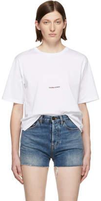 Saint Laurent White Rive Gauche Logo T-Shirt