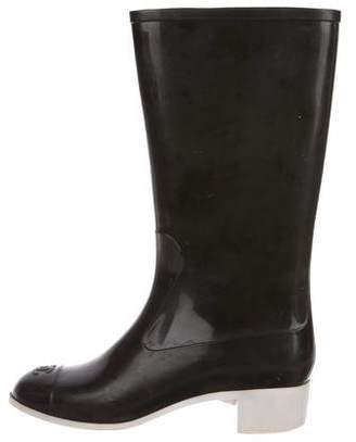 Chanel CC Mid- Calf Rain Boots
