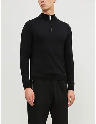 Sandro Zipped funnel neck wool jumper