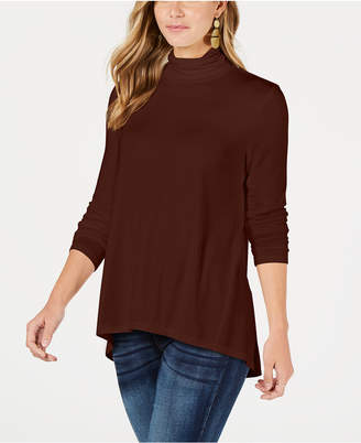 Style&Co. Style & Co Mock-Neck High-Low Top