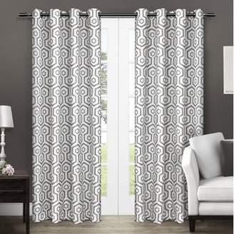Langley Street Marnie Geometric Blackout Thermal Grommet Curtain Panels