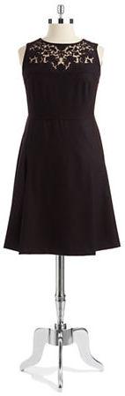 Anne KleinAnne Klein Plus Yoke Lace Dress