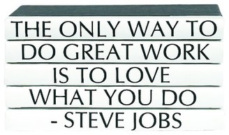 Five Volume Steve Jobs Quote Set of Decorative Books