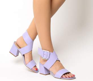 Office Modena Clean Block Heels Lilac Leather