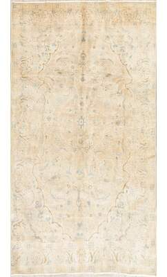 "Rugsource Distressed Wool Persian Rug Vintage Hand-Knotted Collectible Oriental Area Rug Vintage Faded 8'3""X4'6"" Rugsource"