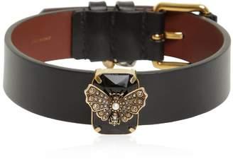 Alexander McQueen Butterfly Jewel Leather Choker