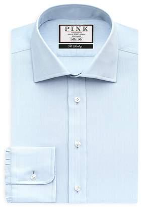 Thomas Pink Timothy Herringbone Texture Dress Shirt - Bloomingdale's Regular Fit
