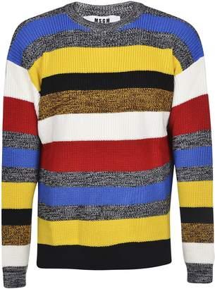 MSGM Striped Pattern Sweater