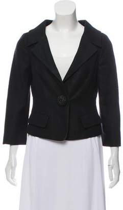 Giambattista Valli Cropped Notch-Lapel Blazer