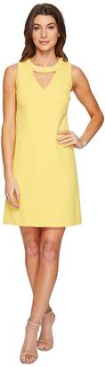 Christin Michaels Gisela Sleeveless Keyhole Dress with Pearl Detail Women's Dress