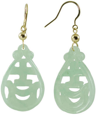 JCPenney FINE JEWELRY 14K Yellow Gold Jade Drop Earrings