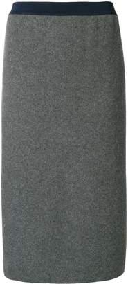 Thom Browne Vertical Stripe Wool Pencil Skirt