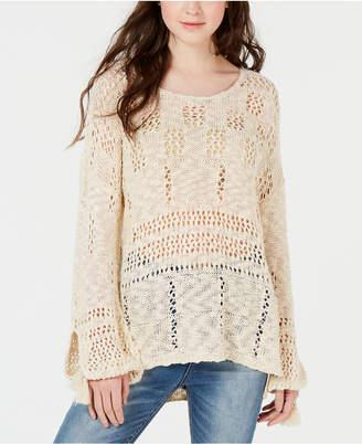 American Rag Juniors' Open-Knit High-Low Sweater