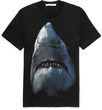 Givenchy Cuban-Fit Shark-Print Cotton-Jersey T-Shirt $550 thestylecure.com