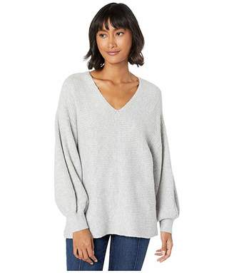 1 STATE 1.STATE V-Neck Bubble Sleeve Sweater
