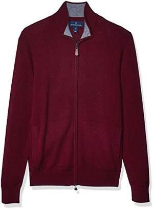Buttoned Down Amazon Brand Men's 100% Premium Cashmere Full-Zip Sweater